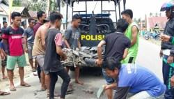 Dilindas Truk, Betis Pengendara Motor di Konut Hancur Berantakan