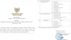 Screenshot pengumuman KPU RI tentang penetapan calon anggota komisi pemilihan umum kabupaten/kota periode 2019-2024.