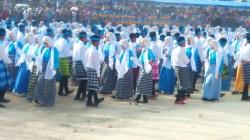 Salah satu jenis tarian yang diperagakan puncak Festival Budaya Tua Buton, Sabtu (24/8/2019). (Foto: La Ode Ali/SULTRAKINI.COM)