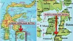 Peta Provinsi Kepulauan Buton.