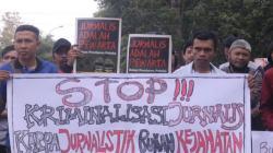 Ilustrasi stop kekerasan jurnalis. (Foto: Kumparan.com)