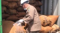 Kontainer ekspor biji mete siap dikirim ke Vietnam melalui Pelabuhan Kendari New Port (Foto: Ririn Andriani/SULTRAKINI.COM)