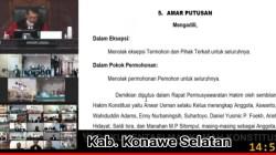 Sidang MK sengketa Pilkada Konsel (Foto: Ist)
