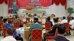 Pertemuan tatap muka Pangdam XIV/Hasanuddin Mayjen TNI Andi Sumangerukka dengan Forkopimda Muna dan Muna Barat, (Foto: LM Nur Alim/SULTRAKINI.COM)