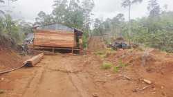 Lokasi pertambangan PT Mining Maju di Desa Pitulua, Kecamatan Lasusua, Kabupaten Kolaka Utara, tampak sepi seperti tidak ada aktifitas, (Foto: Ist)