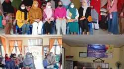 Dosen Farmasi UHO melakukan sosialisasi vaksin kepada masyarakat Kelurahan Mokoau, (Foto: Ist)