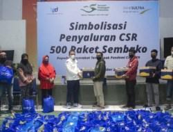 Hari Pelanggan Nasional, Bank Sultra Salurkan Bantuan Paket Sembako