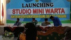Proses launching Studio Mini Warta Kemenag Sultra, (Foto: Ist)