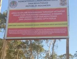 Gakkum KLHK RI Segel Lokasi Tambang di Blok Mandiodo Konawe Utara