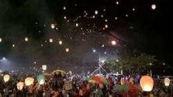 Pesta Cahaya Muna Diwarnai Seribu Lampion dan Kembang Api