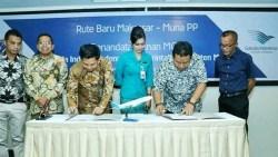 Rusman Emba Setujui Pendaratan Perdana Maskapai Garuda Indonesia