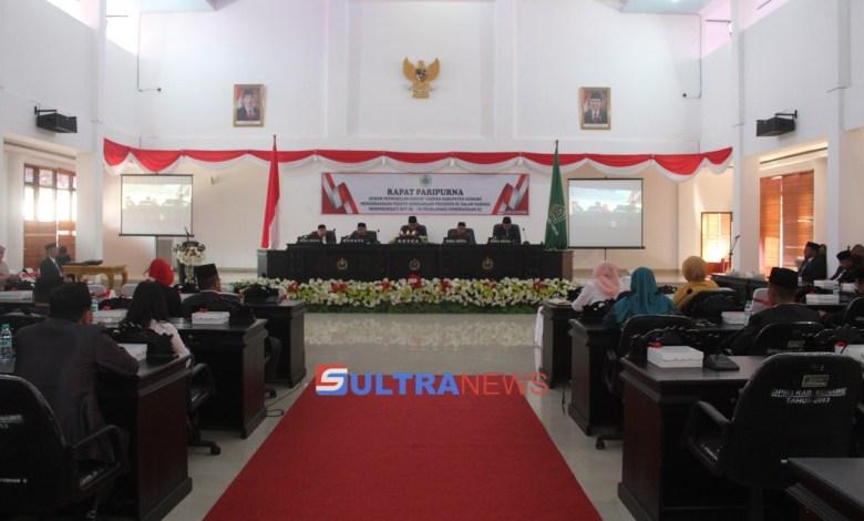 DPRD Konawe Gelar Rapat Paripurna Dalam Peringati HUT RI ke-74,