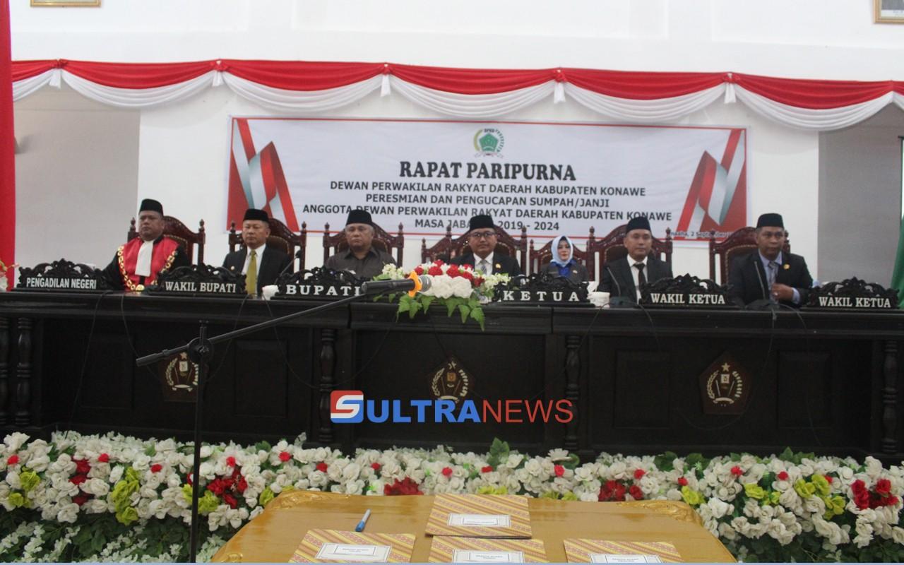 30 Anggota DPRD Konawe Resmi Dilantik, Ardin dan Tajudin Dongge Jadi Pemimpin Sementara