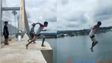 Photo of Aksi Berbahaya 3 Bocah Lompat dari Jembatan Teluk Kendari