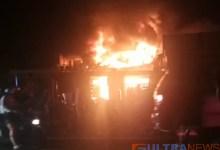Lupa Matikan Lilin, Sebuah Toko di Konawe Hangus Terbakar