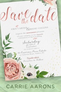 Save the Date by Carrie Aarons Release & Review