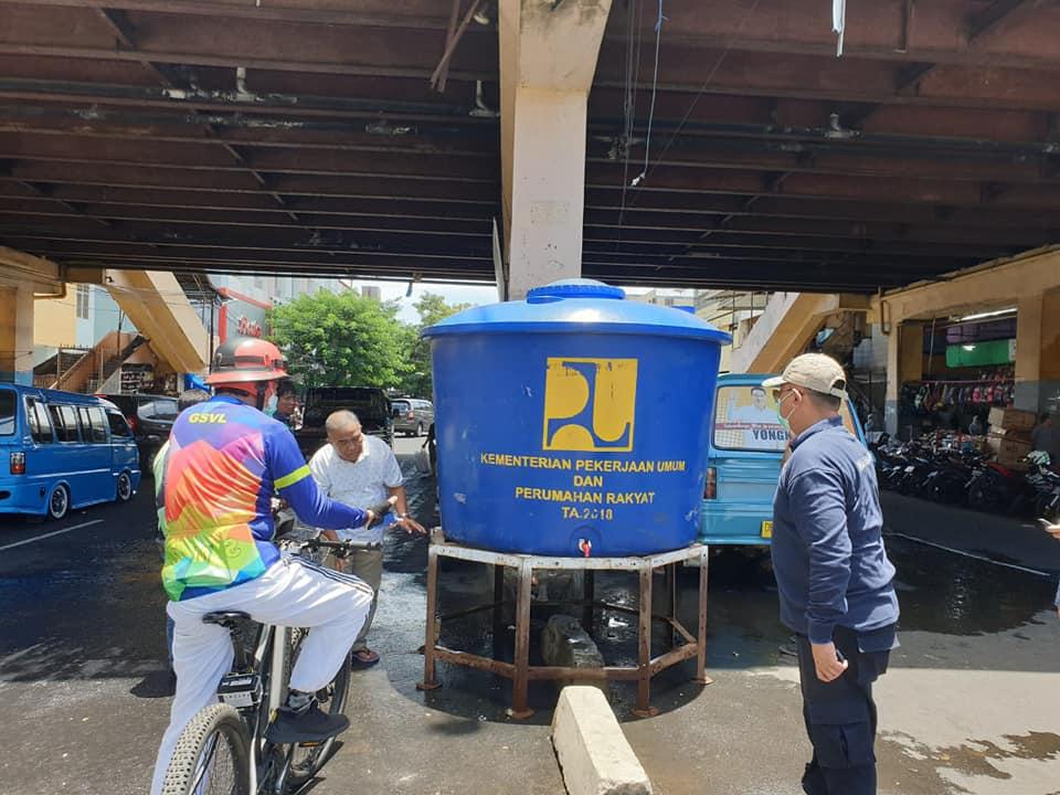 Walikota GSVL Berikan Apresiasi Ke Pemprov Adakan Tempat Cuci Tangan di Depan Jumbo Swalayan