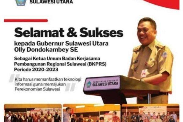 Hebat, Gubernur Olly Terpilih Jadi Ketua BKPRS Periode 2020-2023