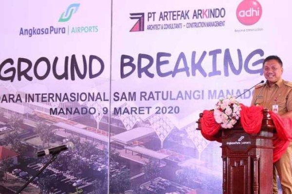 Gubernur Olly Optimis Selesai Sebelum Oktober 2020, Bandara Sam Ratulangi Diperluas