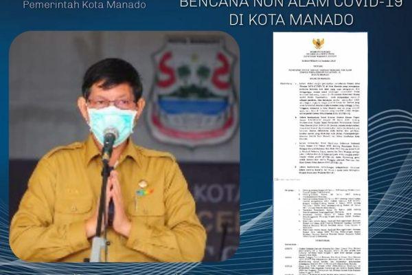 Walikota GSVL Tetapkan Status Tanggap Darurat Bencana Non Alam Covid-19 di Kota Manado