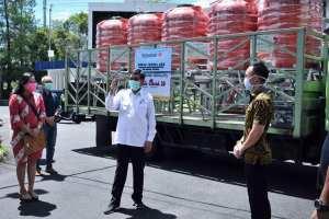 Bersama Lawan Covid-19, Walikota GSVL Terima Bantuan Tedmon Groups Berupa Tong Air Bersih