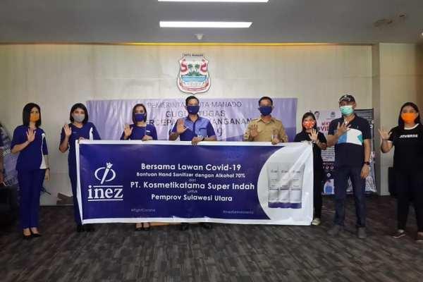 Pemkot Manado Terima Bantuan Hand Sanitizer dari PT. Kosmetikatama Super Indah
