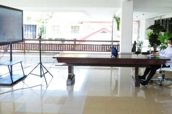 Melalui Vidcon, Walikota GSVL Ikuti Musrembang Provinsi