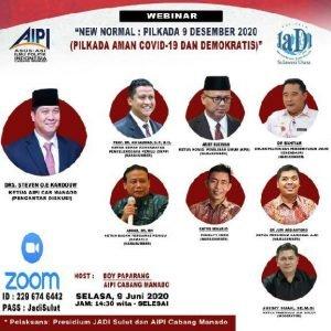 AIPI-JADI Gelar Webinar Bahas Pilkada Aman Covid-19 dan Demokratis