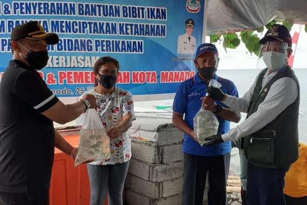 Walikota GSVL Hadiri Panen dan Penyerahan Bantuan Bibit Ikan Dalam Rangka Menciptakan Ketahanan Pangan di Bidang Perikanan