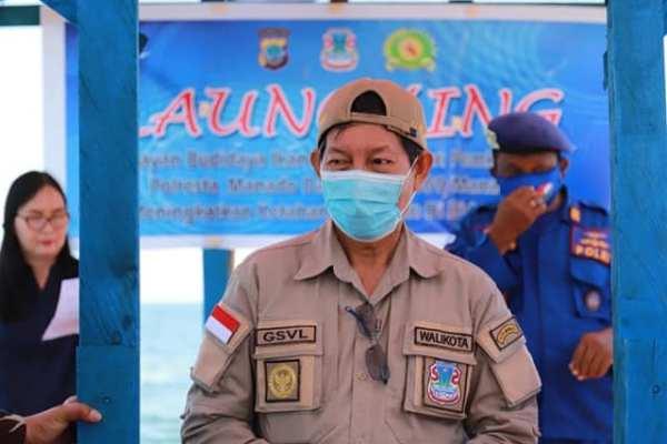 Walikota GSVL Launching Budidaya Ikan Air Laut Binaaan Pemkot Manado, Polresta Manado dan Kodim 1309