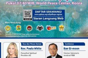 """""""Rally of Hope"""" Pidato Pemimpin Dunia pada 9 Agustus 2020"""