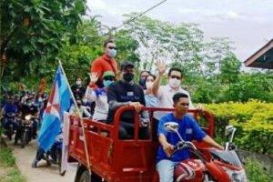 MOR-HJP Ramaikan Kepulauan Bunaken, Masamper bersama, Kendarai Bajaj dan Goyang