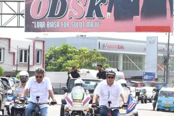 Didoakan dan Pakai Sepeda ke KPU, ODSK Resmi Mendaftar Sebagai Calon Pilgub Sulut