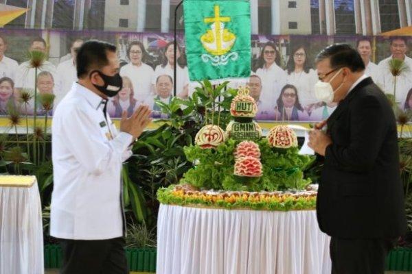 Hadiri HUT ke-86 GMIM Bersinode, Pjs Gubernur Fatoni Sosialisasikan 4M