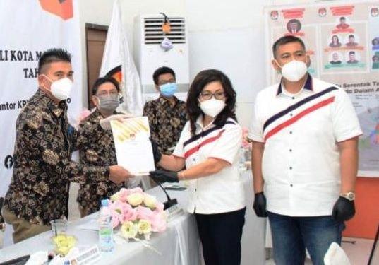 KPU Manado Terima Dokumen Pendaftaran JPAR-AI