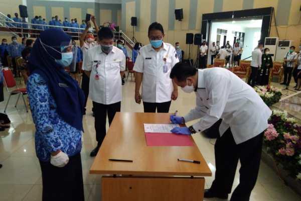 Pjs Gubernur Sulut Hadiri Pengambilan Sumpah Janji 407 PNS