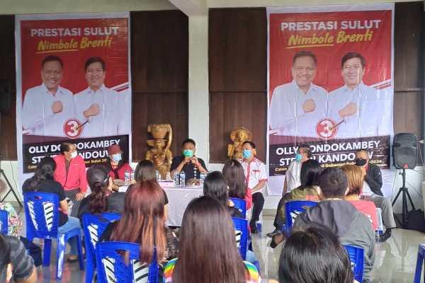 Kampanye di Tomohon, Olly: Jangan Pilihan Kita Sia-sia 5 Tahun