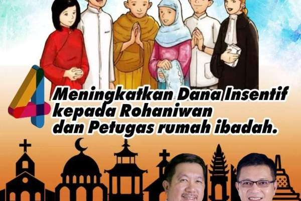MOR-HJP Tingkatkan Program Insentif bagi Rohaniawan dan Petugas Rumah Ibadah