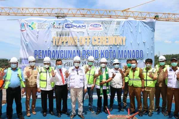 Topping Off Ceremony Gedung RSUD, Walikota : Puji Tuhan, Pekerjaan Berjalan Dengan Baik