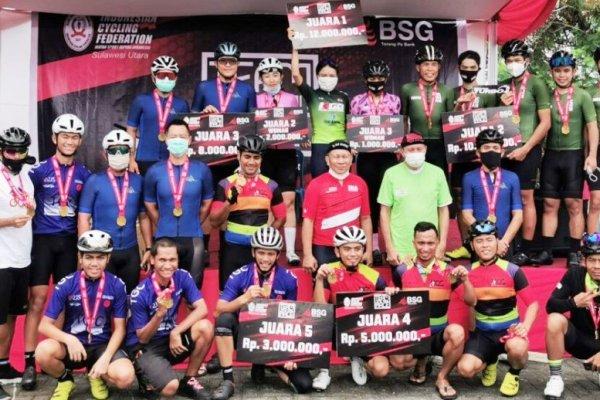 Disupport BSG; Kejuaraan Sepeda ISSI Sulut Diminati Peserta Luar Daerah