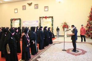 Pjs Gubernur Fatoni Lantik Pengurus Syiar Muslimah Indonesia Sulut Periode 2020-2023, Ini Harapannya