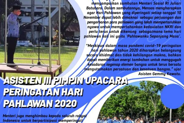 """Kawatu """"IRUP"""" Peringatan Hari Pahlawan 2020"""