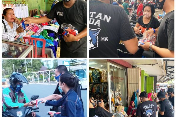 Relawan Milenial MOR-HJP Bantu Pedagang Kecil di 3 Lokasi
