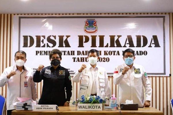 Mendagri dan Walikota Vicky Lumentut Sepakat Satgas Covid Bekerja Masif
