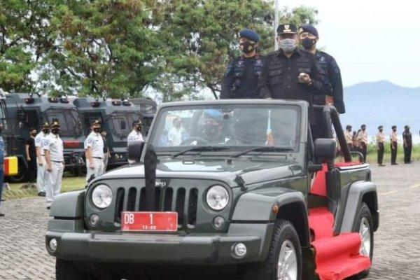 Jelang Nataru, Gubernur Olly Pimpin Apel Gelar Pasukan Operasi Lilin Samrat 2020