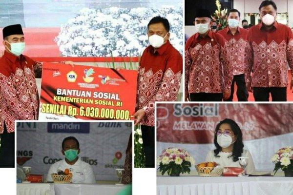 Peringati HKSN, Kemensos Bantu Provinsi Sulut Rp 6,03 M Atasi Pandemi Covid19
