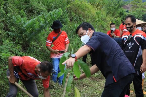 PDIP Sulut Tanam 1.000 Pohon di Ultah Ibu Megawati Soekarnoputri, Steven Kandouw : Mari Kita Jaga Alam Ini