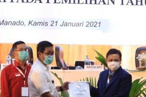 KPU Tetapkan ODSK Paslon Terplih Pilgub Sulut 2020