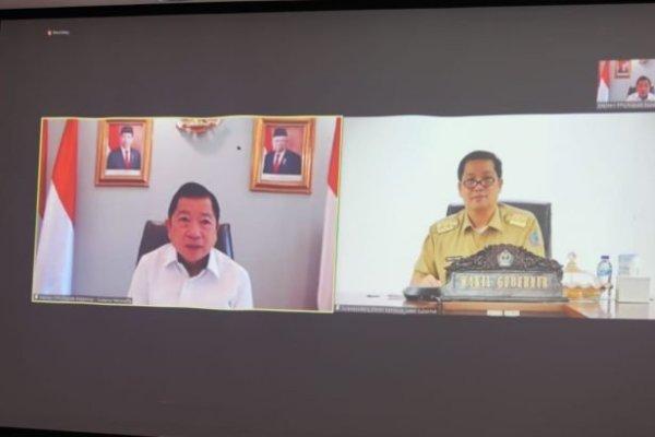 Dihadapan Menteri PPN, Wagub Kandouw Jelaskan Proyek Prioritas Sulut Dukung RKP 2022