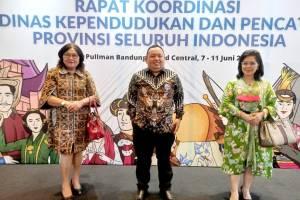 "Wakili Pemprov Sulut, Voura Kumendong Ikut Rakor Dukcapil RI ""Satu Data Indonesia"" di Bandung"